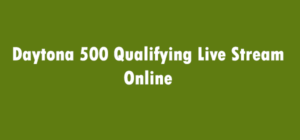 Daytona 500 Qualifying Live